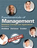 img - for Fundamentals of Management: Essential Concepts and Applications, Student Value Edition (9th Edition) book / textbook / text book
