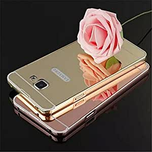 VAV Luxury Metal Bumper + Acrylic Mirror Back Cover Case For Samsung Galaxy Grand Duos I9082 (Gold Mirror)