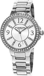 Stuhrling Original Women's 480.01 Allure Analog Display Quartz Silver Watch