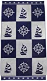 Northpoint Newport Oversized Double Jacquard Plush Velour Beach Towel 40 by 70-Inch Sailing Checkerboard