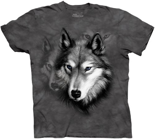 151238 Wolf Portrait Youth Tshirt S front-369813