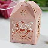 Hosaire 100 pcs Wedding Sweets Wedding Gifts Paper Candy Boxes Hollow Box Bags