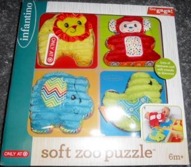 Go Gaga! Soft Zoo Puzzle by Infantino