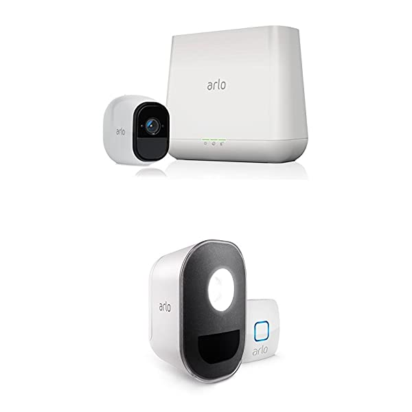 Arlo Pro - Security System with Siren - 1 Rechargeable Wire-Free HD Camera with Arlo Smart Home 1 Security Light Kit, Works with Amazon Alexa (Tamaño: 1 Light Kit)
