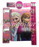 New Disney Pink Frozen Princess Anna Elsa & Olaf Stationary Set for Kids