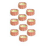 Kriti Creations Set Of 10 Traditional Wax Filled Clay Diyas - B0179B84N2