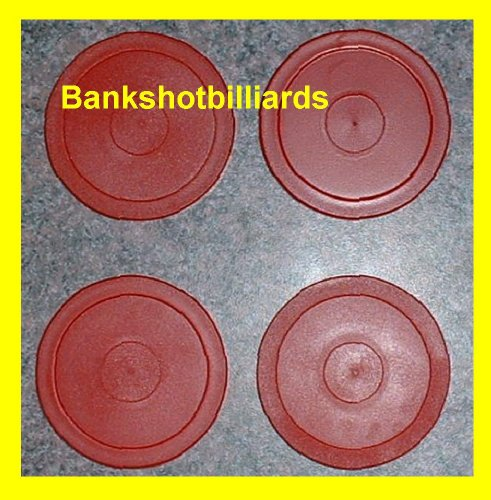 Read About 4 Red Round Air Hockey Pucks