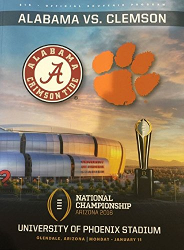 2015-2016 College National Championship Program Clemson Tigers Vs. Alabama Crimson Tide (2015 Championship Program compare prices)