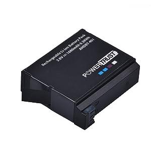 PowerTrust 4-Pack AHDBT-401 AHDBT401 Battery for Gopro Hero 4 AHBBP-401 Digital Battery and AHDBT 401 Dual USB Charger for GoPro Hero4 HERO4 Camera