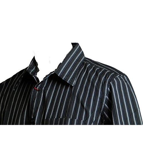(カスタムカルチャー) CUSTOM CULTURE 長袖シャツ 黒白ストライプ L