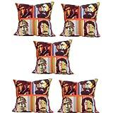 MeSleep Digitally Printed Bombay Villains 5 Piece Cushion Cover Set - Multicolor