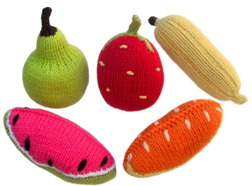 Yellow Label Kids Rattles, Fruit