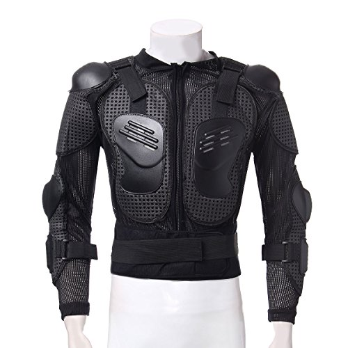LOPEZ Durable Motorbike Motorcycle Full Body Armor Protector Guard Shirt Jacket with Spine Chest Shoulder Protection for Riding Motorcycling Motocross Gear - XXL