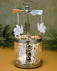 Frosted Glass Spinning Candle Holder…