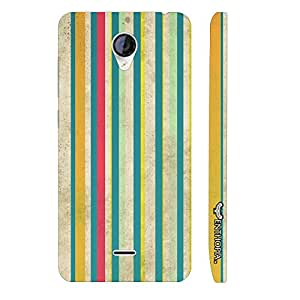 Micromax Canvas A106 Grunge Stripes 2 designer mobile hard shell case by Enthopia