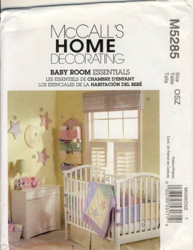 Mccall Sewing Pattern 5285 / M5285 - Use To Make - Baby Room Essentials front-861337
