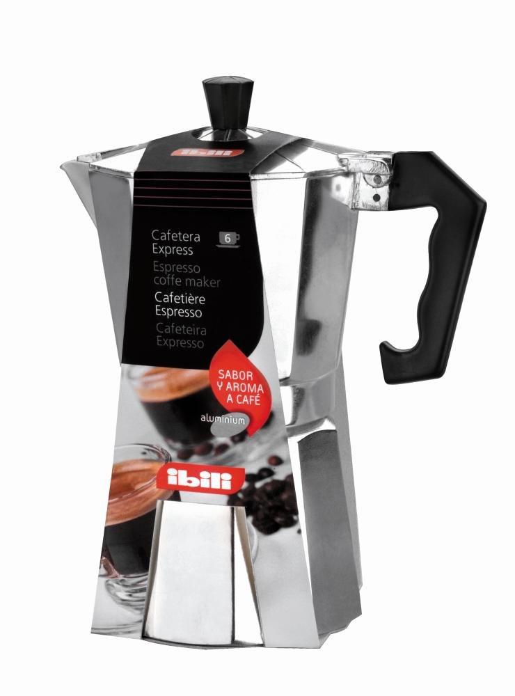 Ibili Bahía - Cafetera express aluminio, 600 ml, 6 tazas   Comentarios de clientes y más información