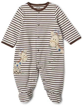 Little Me Hungry Giraffe Footie, Brown, 6 Month