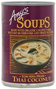 Amy's Organic Thai Coconut Soup (Tom Kha Phak), 14.1-Ounce Cans (Pack of 12)
