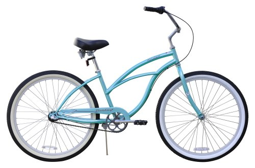 Women's Urban Lady 3 Speed Beach Cruiser Bike Color: Baby Blue
