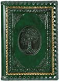 The Tree Of Life Refillable Leather Journal with Embossed Tree Designs, Ivory Sheets, Lined, 5 3/4x8