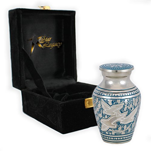 Star Legacy's Wings of Freedom - Brass Metal Cremation Urn Keepsake for Human Ashes w Velvet Box (Ashes Urn compare prices)