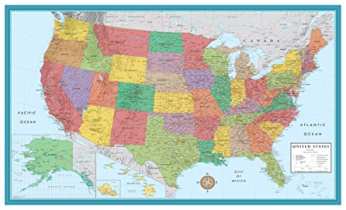 48x78 Huge United States, USA Classic Elite Wall Map Poster (Wall Map United States compare prices)