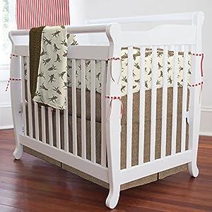 Sock Monkey Mini Crib Bumper