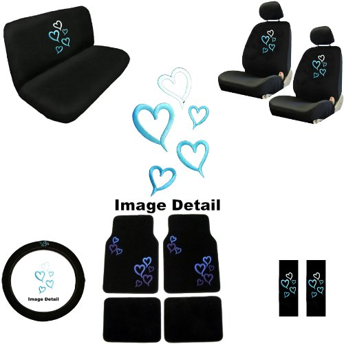 Love Story Blue Hearts Car Truck SUV Auto Accessories