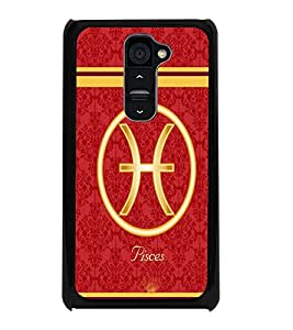 PrintDhaba Zodiac Pisces D-2730 Back Case Cover for LG G2 (Multi-Coloured)