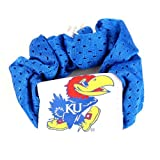 University of Kansas Jayhawks Blue Hair Scrunchie - Hair Twist - Ponytail Holder at Amazon.com