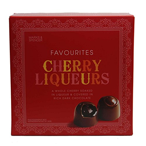 Marks & Spencer Cherry Liquers Covered in Dark Chocolate 225g (from the UK)