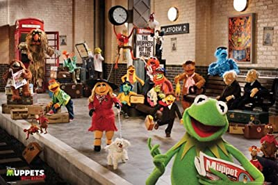 """The Muppets Most Wanted - Movie Poster / Print (The Cast / Subway Station) (Size: 36"""" x 24"""") (Poster & Poster Strip Set)"""
