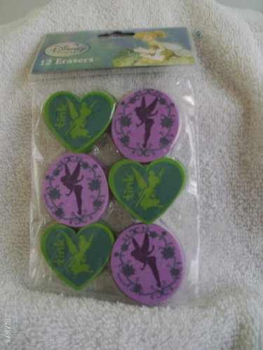 Tinker Bell Erasers 12ct - 1