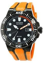 "Citizen Men's BN0097-11E ""Scuba Fin"" Stainless Steel Eco-Drive Dive Watch"