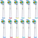 12pcs (3x4) E-Cron® Toothbrush heads, Replacement for ★Oral B 3D White (EB18-4)★. Fully Compatible With The Following Oral B Electric ToothBrush Models: Vitality Precision Clean, Vitality Floss Action, Vitality Sensitive, Vitality Pro White, Vitality Dual Clean, Vitality White and Clean, Professional Care, Triumph, Advance Power, TriZone, Smart Series