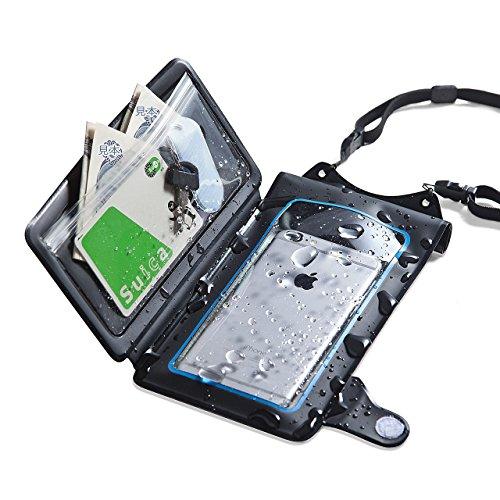 サンワダイレクト 防水ケース 小物ポケット付き iPhone 6s /6s Plus スマホ対応 ストラップ付 小銭 / カード 収納対応 IPX8 200-SPC018WP
