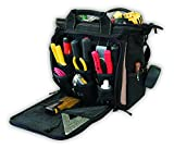 Custom LeatherCraft 1537, Multi-Compartment Tool Carrier, 33 Pockets, 13-Inch
