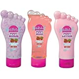 Foot Factory Very Berry Pedicure Set - Scrub, Soak & Lotion