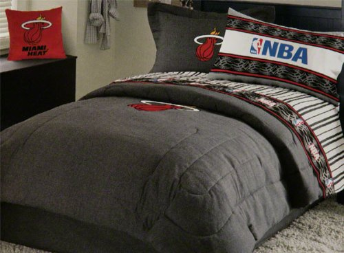 special sporting goods miami heat black denim full size comforter