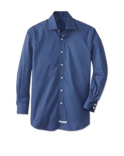 English Laundry Men's Stripe Dress Shirt