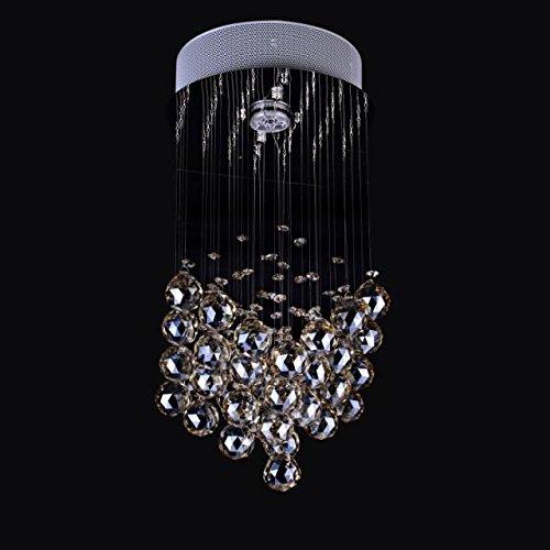 Twopages 50W 1Light Clear Light K9 Crystal Chandelier Lamp 110-120 Volt