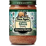 Onceagain Almond Butter-Raw/Crunchy (100% Organic), 16-Ounce