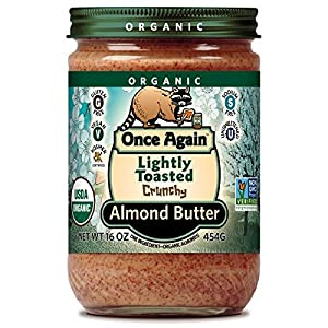 Onceagain Almond Butter-Raw/Crunchy (100% Organic), 16-Ounce
