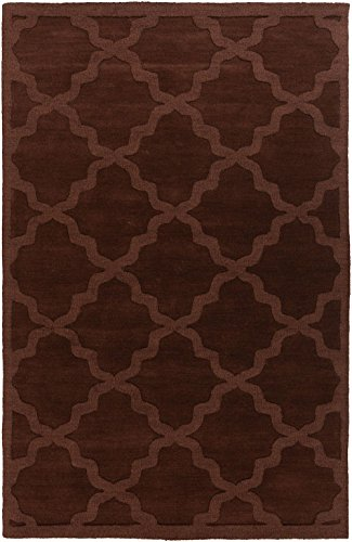 Solid/Striped 8'x10' Rectangle Area Rug in Pecan color from Central Park Alley Collection (Central Park Rug compare prices)