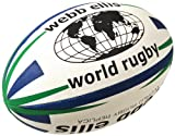 Webb Ellis Men's World Rugby Ball - Navy/Green, Mini