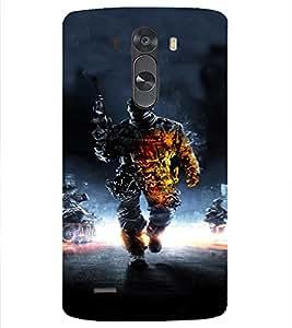 PrintVisa Army Commando Design 3D Hard Polycarbonate Designer Back Case Cover for LG G3 MINI