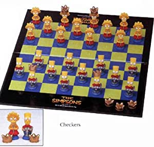 The Simpsons 3-D Checkers Board Game