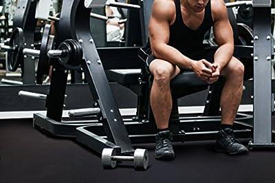 IncStores Home Gym Flooring Interlocking Rubber Tiles Exercise & Equipment Mats (4 Tiles, 16 Sqft) from Incstores