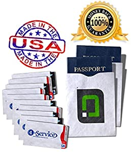 Credit Card & Passport Holders Case Set W/anti-theft Rfid Blocking Capabilities for Security